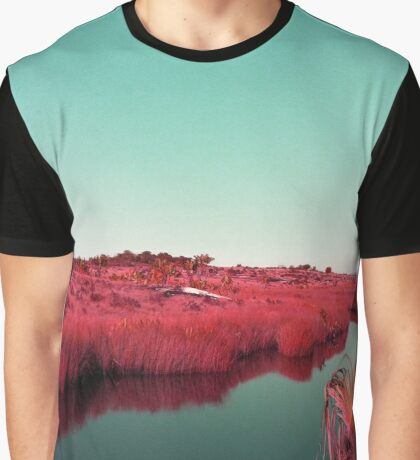 Madagascan River in Red Graphic T-Shirt