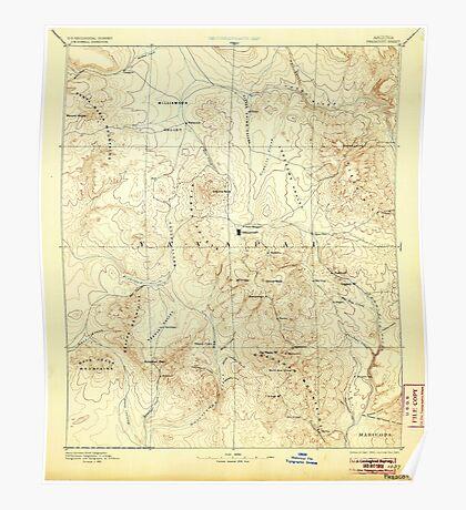 USGS TOPO Map Arizona AZ Prescott 315583 1892 250000 Poster