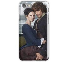 Outlander/Jamie & Claire in grunge frame. iPhone Case/Skin
