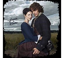 Outlander/Jamie & Claire in grunge frame. Photographic Print