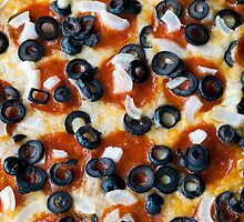 Pepperoni Pizza with Mushrooms and Onions by Kenneth Keifer