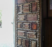 Madrid - Old Nailed Door by Michelle Falcony
