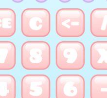 kawaii blue calculator Sticker