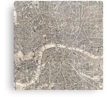 Map of London, 1899 Metal Print