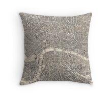 Map of London, 1899 Throw Pillow