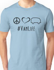 Peace, love and vanlife Unisex T-Shirt