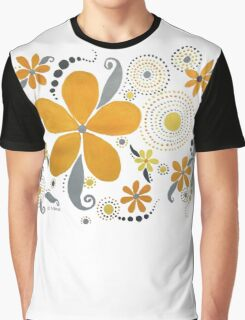 GARDEN PARTY #3 YELLOW & GRAY Graphic T-Shirt