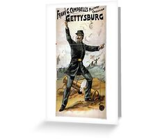 Performing Arts Posters Frank G Campbells military creation Gettysburg 1914 Greeting Card