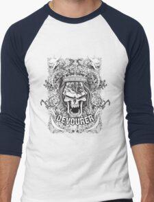angry skull remix Men's Baseball ¾ T-Shirt