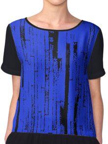 Line Art - The Bricks, black and blue Chiffon Top