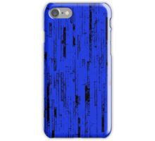 Line Art - The Bricks, black and blue iPhone Case/Skin