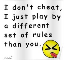 I Don't Cheat Poster