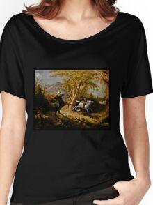 Headless Horseman Chasing Ichabod Crane Women's Relaxed Fit T-Shirt