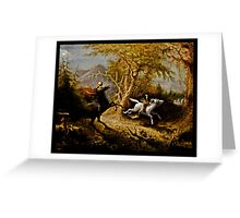 Headless Horseman Chasing Ichabod Crane Greeting Card