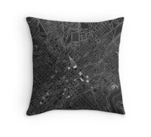 Map of Washington, D.C., 1908 (Night) Throw Pillow