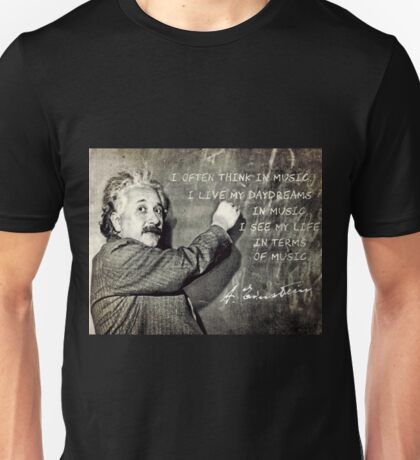 Einstein The Music Lover Unisex T-Shirt
