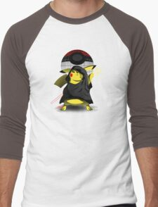 Join The Dark Side With Darth Pika Men's Baseball ¾ T-Shirt