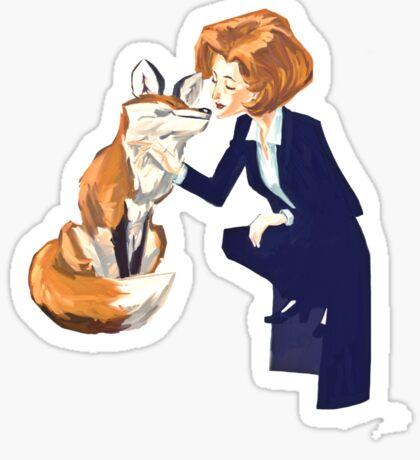 trust of a fox - x files Sticker