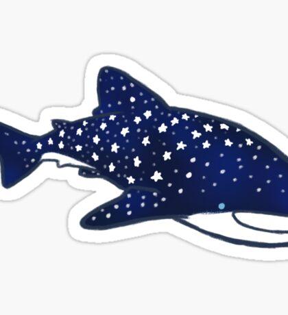 Starry Whale Sharks (Dark version) Sticker