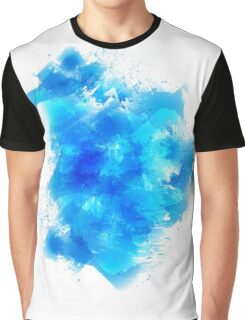 Abstract blue watercolor background Graphic T-Shirt