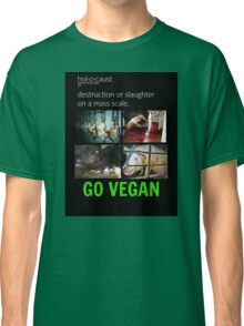 Animal Holocaust/Go Vegan Classic T-Shirt