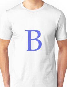 B Alphabet Letter Unisex T-Shirt