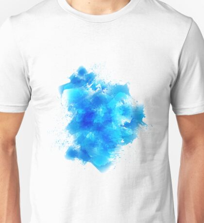 Abstract blue watercolor background Unisex T-Shirt