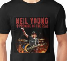 tshirt and poster promise of the real neil young style Unisex T-Shirt