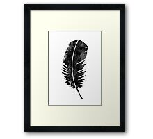 Black Feather Framed Print