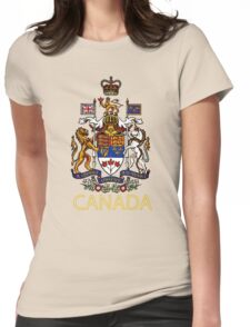 Coat of Arms of Canada Womens Fitted T-Shirt