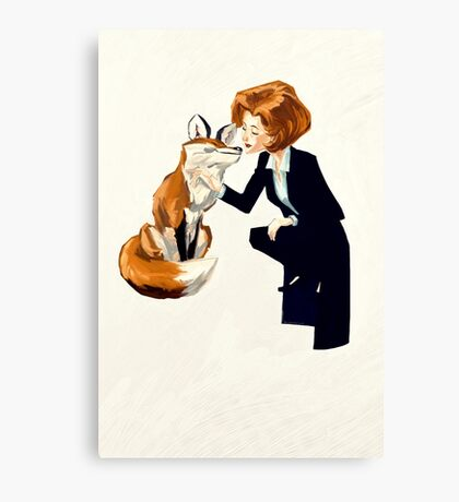 trust of a fox - x files Canvas Print