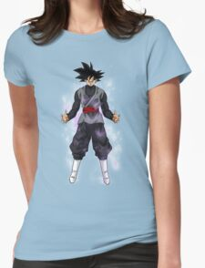 Goku Black Powering up Womens Fitted T-Shirt