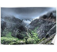 Bixby Bridge Through the Fog and Dale Poster