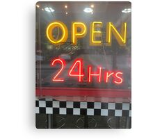 Open 24 Hours Metal Print