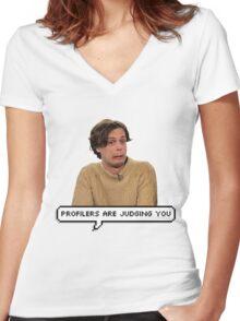 Matthew Gray Gubler W/O Flower Crown Women's Fitted V-Neck T-Shirt
