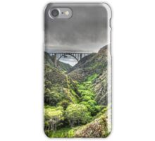 Bixby Bridge Through the Fog and Dale Portrait  iPhone Case/Skin