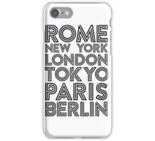 Capital Cities - Black  texts on White iPhone Case/Skin