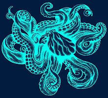 Neon Octopus by . VectorInk