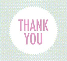 Thank You Greeting Card by Renee de Valle