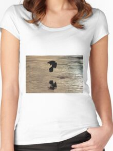 Bird Silhouette Women's Fitted Scoop T-Shirt