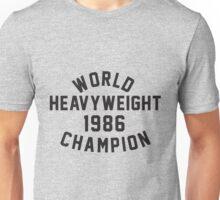 World Heavyweight 1986 Champion Unisex T-Shirt