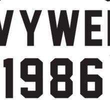World Heavyweight 1986 Champion Sticker