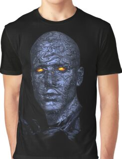 Scary, Blue Man, Yellow Eyes Graphic T-Shirt