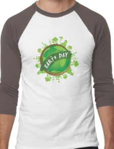 earth day Men's Baseball ¾ T-Shirt