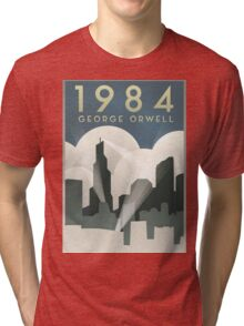 George Orwell - 1984, Art Deco Poster Tri-blend T-Shirt