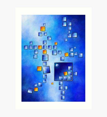 Cublerossia V1 - falling cubes Art Print