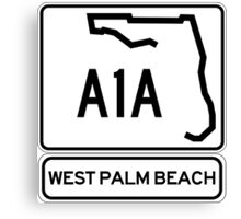A1A - West Palm Beach Canvas Print