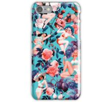 Pinup and Floral Pattern iPhone Case/Skin
