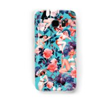 Pinup and Floral Pattern Samsung Galaxy Case/Skin