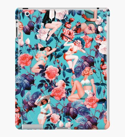 Pinup and Floral Pattern iPad Case/Skin